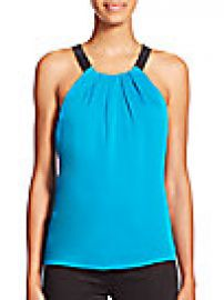 MILLY - Contrast Crepe Top at Saks Fifth Avenue