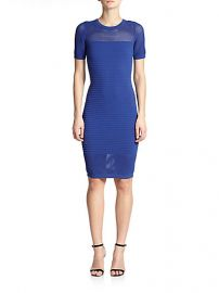 MILLY - Engineered Mesh Sheath Dress at Saks Fifth Avenue