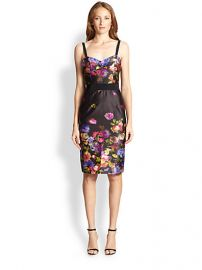MILLY - Floral-Print Satin Bustier Dress at Saks Fifth Avenue