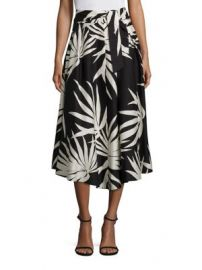MILLY - Jackie Palm-Printed Midi Skirt at Saks Fifth Avenue