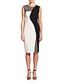 MILLY - Mesh-Detail Helix Sheath Dress at Saks Off 5th