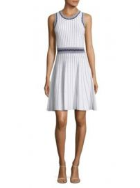 MILLY - Vertical Texture Flare Dress at Saks Off 5th