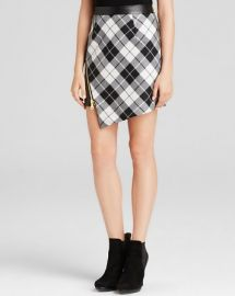 MILLY Skirt - Tartan Slit at Bloomingdales