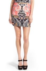 MINK PINK Paisley Picture Miniskirt at Nordstrom