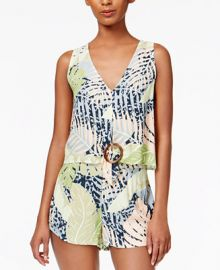MINKPINK Aloha Printed Crop Top at Macys