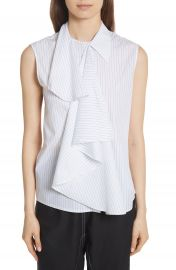 MM6 Maison Margiela Sleeveless Poplin Top at Nordstrom