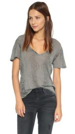 MONROW Oversized V neck Tee at Shopbop