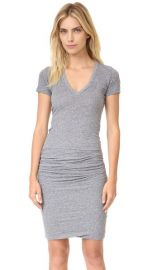 MONROW Short Sleeve Shirred Dress at Shopbop