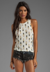 MORNING WARRIOR Lipstick Lover Tank in Ivory at Revolve