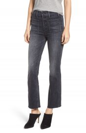 MOTHER Hustler Patch Pocket High Waist Ankle Jeans  Leave the Light On    Nordstrom at Nordstrom