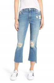 MOTHER The Insider Step Hem Crop Bootcut Jeans  Hijacking the Runway at Nordstrom