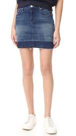 MOTHER Undone Hem Mini Skirt at Shopbop