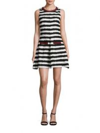 MSGM - Striped Fit- -Flare Dress at Saks Fifth Avenue