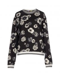 MSGM Floral Sweatshirt at Yoox