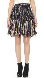 MSGM Tweed Fringe Skirt at Shopbop