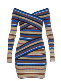 MSGM striped off shoulder dress at Matches