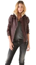 Mackage Leather andamp Shearling Moto Jacket at Shopbop