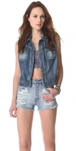 Macrame cargo vest by Free People at Shopbop