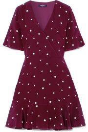 Madewell   Printed silk mini dress at Net A Porter
