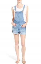 Madewell  Adirondack  Cutoff Denim Short Overalls  Isley Wash at Nordstrom