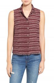 Madewell  Moment  Sleeveless Cotton Shirt at Nordstrom