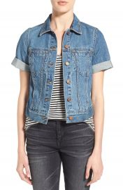 Madewell  Summer  Short Sleeve Denim Jacket at Nordstrom