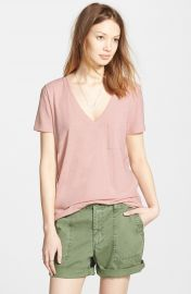 Madewell  Whisper  Cotton V-Neck Pocket Tee at Nordstrom