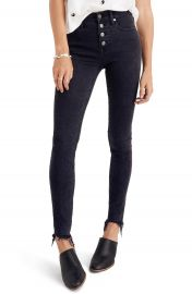 Madewell 9-Inch Button High Waist Ankle Skinny Jeans  Berkeley Wash at Nordstrom