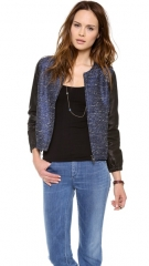 Madewell Bomber with Leather Sleeves at Shopbop