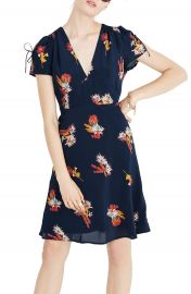 Madewell Cactus Flower Silk Dress at Nordstrom
