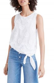 Madewell Embroidered Side Tie Tank at Nordstrom