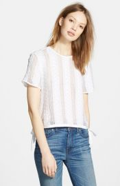 Madewell Lace Side Tie Crop Tee at Nordstrom