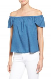 Madewell Off the Shoulder Cotton Top at Nordstrom