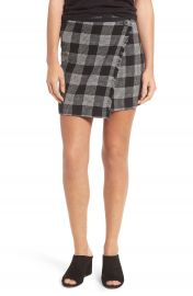 Madewell Plaid Wrap Miniskirt at Nordstrom