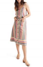 Madewell Rainbow Stripe Midi Skirt at Nordstrom