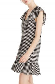 Madewell Ruffle Gingham Shift at Nordstrom