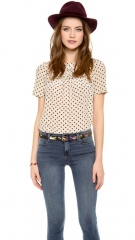 Madewell Scallop Ruffle Top at Shopbop