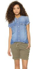 Madewell Short Sleeve Chambray Shirt at Shopbop