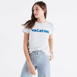 Madewell embroidered vacation tee at Madewell