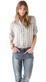 Madewell gingham shirt on Happy Endings at Shopbop