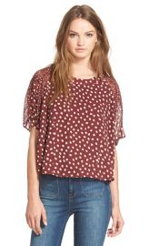 MadewellCheetah Dots Silk Top at Nordstrom
