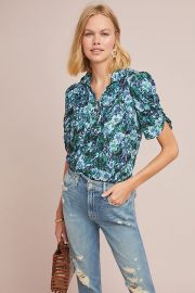 Maeve Susan Henley Blouse at Anthropologie