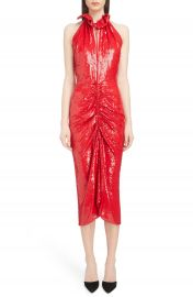Magda Butrym Ruched Sequin Sheath Dress at Nordstrom