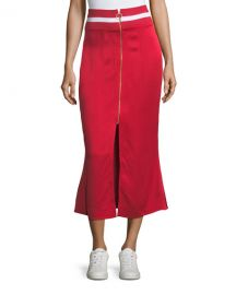 Maggie Marilyn Focus on the Good Flared Midi Satin Skirt  at Neiman Marcus