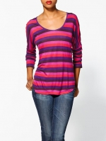 Maggies purple striped tee at Piperlime at Piperlime