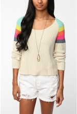 Maggies rainbow sweater at Urban Outfitters at Urban Outfitters