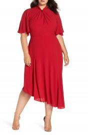 Maggy London Asymmetrical Midi Dress  Plus Size at Nordstrom
