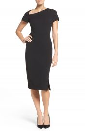 Maggy London Asymmetrical Sheath Dress  Regular   Petite at Nordstrom