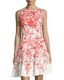 Maggy London Floral-Print Fit and Flare Dress at Last Call