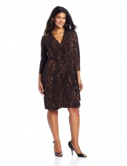 Maggy London Leopard Wrap Dress at Amazon